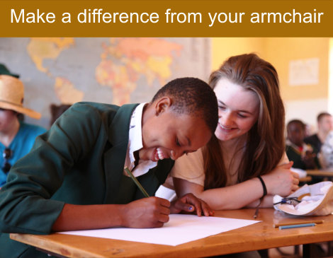 Make a difference from your armchair